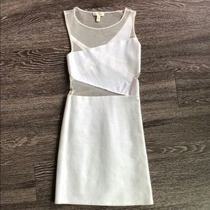 White Cocktail Dress with Cutouts